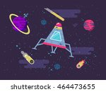vector illustration of a space... | Shutterstock .eps vector #464473655