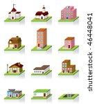 vector building icon    3d... | Shutterstock .eps vector #46448041