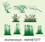 swamp trees vector pack | Shutterstock .eps vector #464487377