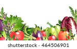 watercolor vegetables frame... | Shutterstock . vector #464506901