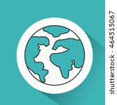 world planet earth icon vector... | Shutterstock .eps vector #464515067