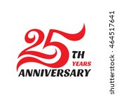 creative emblem 25 th years... | Shutterstock .eps vector #464517641
