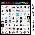 set of car washing icons.... | Shutterstock .eps vector #464517809