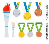 paralympics games. olimpic fire.... | Shutterstock .eps vector #464518139