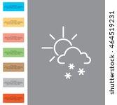 sun snow icon vector | Shutterstock .eps vector #464519231