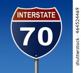 a 3d rendering of a highway... | Shutterstock . vector #464524469