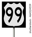 a 3d rendering of a highway... | Shutterstock . vector #464524559