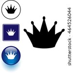 crown symbol sign and button   Shutterstock .eps vector #464526044