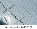 cardiogram tape graph macro... | Shutterstock . vector #46453102