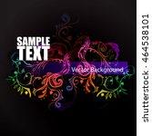 background flowers ornament | Shutterstock .eps vector #464538101