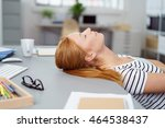 exhausted young woman taking a... | Shutterstock . vector #464538437