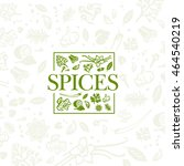 spices logo design with... | Shutterstock .eps vector #464540219