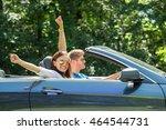 happy young couple enjoying... | Shutterstock . vector #464544731