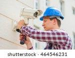 young male technician...   Shutterstock . vector #464546231