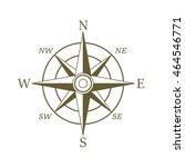 compass icon in sepia color....