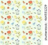 flowers vector icons set  | Shutterstock .eps vector #464551229