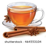Tea Cup With Cinnamon And Anis...