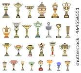 vector trophy cups | Shutterstock .eps vector #464556551