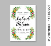 wedding invitation sample with... | Shutterstock .eps vector #464557007