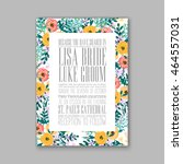 wedding invitation or card with ... | Shutterstock .eps vector #464557031
