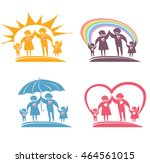 loving family. four vector... | Shutterstock .eps vector #464561015