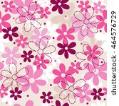 flower   floral seamless pattern | Shutterstock .eps vector #464576729
