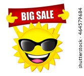 big sale illustration with sun... | Shutterstock .eps vector #464579684