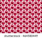 hearts seamless pattern love... | Shutterstock .eps vector #464580449
