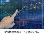 double exposure of stocks... | Shutterstock . vector #464589767