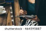 home office desk background... | Shutterstock . vector #464595887