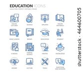 simple set of education related ... | Shutterstock .eps vector #464600705