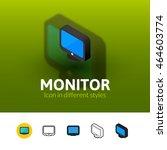 monitor color icon  vector...