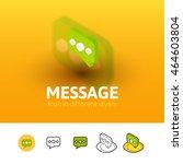 message color icon  vector...