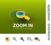 zoom in color icon  vector...