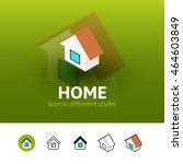 home color icon  vector symbol...