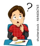 illustration of a confused... | Shutterstock .eps vector #464606765