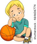 illustration of a little boy... | Shutterstock .eps vector #464606774
