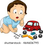 illustration of a baby boy... | Shutterstock .eps vector #464606795