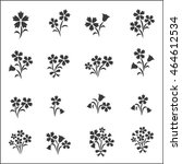flower icons for pattern with... | Shutterstock .eps vector #464612534