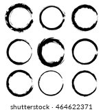 grunge circles round shapes... | Shutterstock .eps vector #464622371