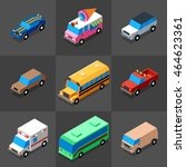 vehicles icons set 1. 3d... | Shutterstock .eps vector #464623361