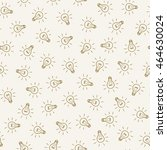 seamless pattern of  hand drawn ... | Shutterstock .eps vector #464630024