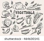 vector set of different hand... | Shutterstock .eps vector #464630141