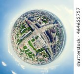 aerial city view with... | Shutterstock . vector #464632757