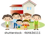 family and home | Shutterstock .eps vector #464636111