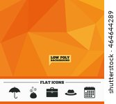 triangular low poly orange...   Shutterstock .eps vector #464644289