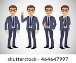 elegant people businessman | Shutterstock .eps vector #464647997