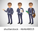 elegant people businessman | Shutterstock .eps vector #464648015