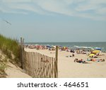 This is a shot of Island Beach State Park along the Jersey shore. - stock photo