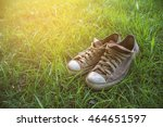 old canvas shoe. | Shutterstock . vector #464651597